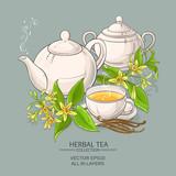 vanilla tea illustration - 175709097