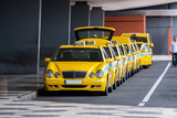 Yellow taxis in Madeira island - 175710432