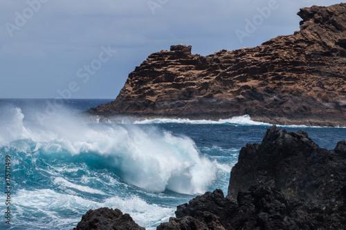 Aluminium Cappuccino Porto Moniz volcanic coast