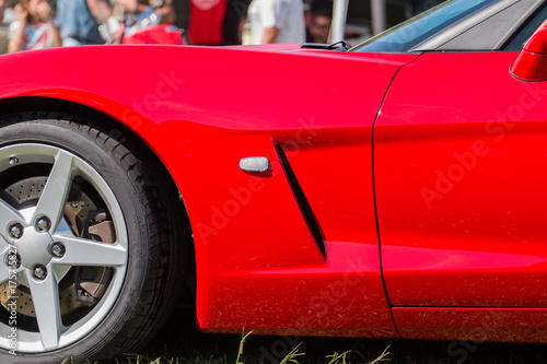 Plakat Sports car wheel