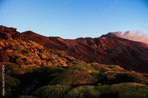 Staande foto Rood paars Etna e Valle del Bove - Luci dell Alba