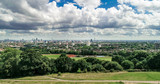 Aerial view of the skyline of central London from a park - 175725687