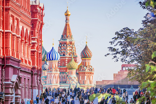 Foto op Plexiglas Moskou St. Basil's Cathedral in Moscow, Russia
