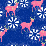 Repeated Deer Pattern Wall Sticker