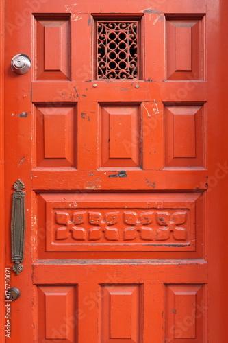 Spoed canvasdoek 2cm dik Rood 赤い西洋風ドア