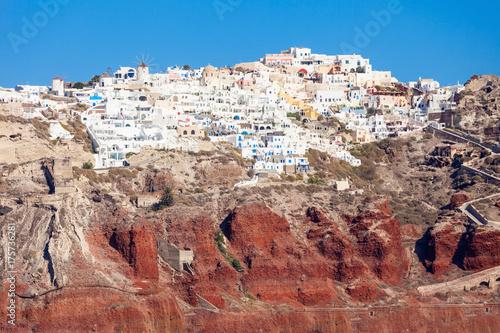 Foto op Aluminium Santorini Oia town in Santorini