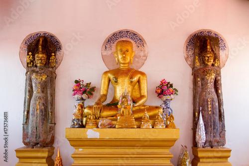 Poster Boeddha Buddha in a temple