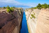 Corinth Canal in Greece - 175737620