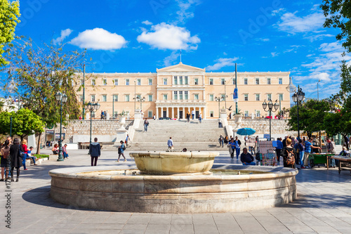Tuinposter Athene The Hellenic Parliament building