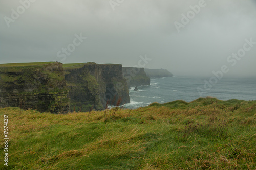 Spoed canvasdoek 2cm dik Bleke violet Cliffs of Moher
