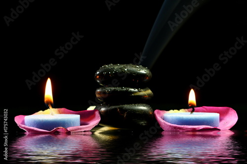Staande foto Zen Lighted candles
