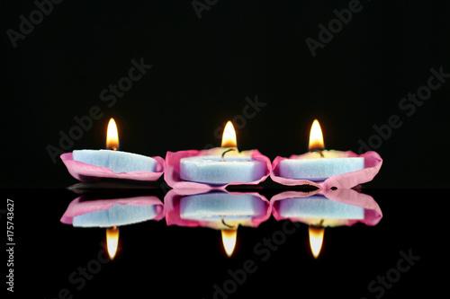 Foto op Canvas Zen Lighted candles