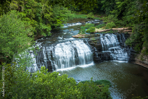 High-Angle View of Burgess Falls in Tennessee - 175751035
