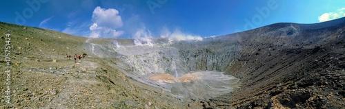Fototapeta Crater of Volcano of Aeolian islands