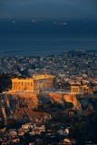 Athens skyline sunrise from Mt Lykavitos - 175753467