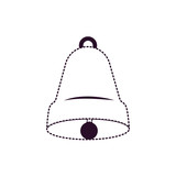 bell front view on dotted monochrome silhouette - 175754672