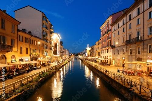 Poster Milan Naviglio Grande canal