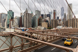 View from Brooklyn Bridge at Lower Manhattan, NYC, USA - 175755617