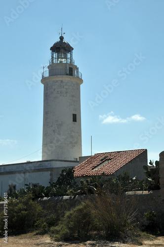 Fotobehang Vuurtoren Leuchtturm von Formentera
