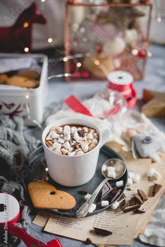 Foto op Canvas Chocolade gingerbread hot chocolate