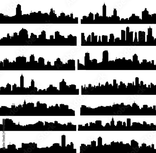 City Skyline set - vector