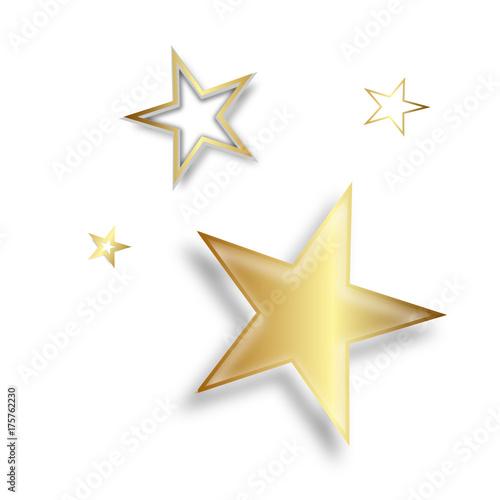 Stern Sterne Zeichen Symbol Gold Symbole Star Stars Set Verschiedene