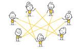 Strichfiguren / Strichmännchen: Netzwerk, Internet, Zusammenarbeit. (Nr. 115) - 175764609