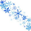 Watercolor Snowflakes Winter Background, Happy New Year Greeting Card, Christmas Invitation in vector