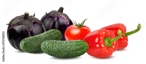 Keuken foto achterwand Verse groenten Fresh vegetable isolated on white background with clipping path