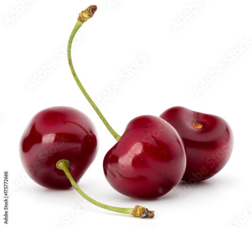 Fotobehang Kersen Sweet cherry berries isolated on white background cutout
