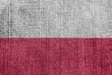 Poland Textile Industry Or Politics Concept: Polish Flag Denim Jeans Background Texture - 175773879