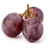 Red grape berry bunch isolated on white background cutout - 175774667
