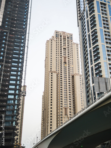 Staande foto Dubai Skyscraper construction in Dubai, UAE