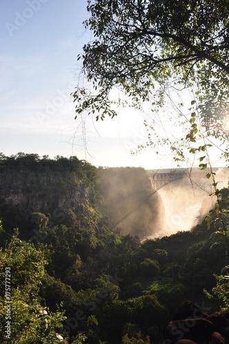 Fotobehang Beige Victoria falls. Zambia