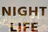 The word night life in the symbol
