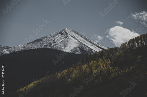 Poster Grijze traf. Mountains