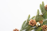 christmas background fir leaves - 175787666