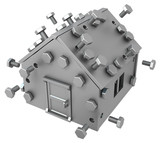 Metal Plate House - 175788256
