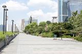 empty sidewalk near modern building - 175788420