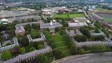 Aerial reveal Harvard business school - 175789495