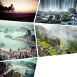 Quadro Collage of Rio de Janeiro (Brazil) images - travel background (my photos)
