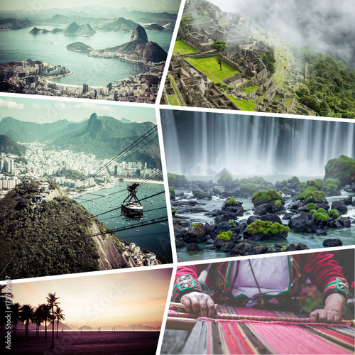 Collage of Rio de Janeiro (Brazil) images - travel background (my photos) Poster