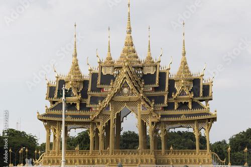 Barom Mangalanusarani Pavillian inside the Ananta Samakhom Throne Hall in Bangkok, Thailand Poster
