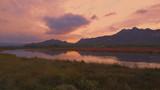 Landschaft im Sonnenuntergang bei Cannigione auf Sardinien