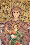 Vierge à l'enfant - Mosaïque à Taormina - Sicile / Italie - 175810408