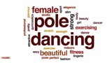 Pole dancing animated word cloud, text design animation. - 175815420