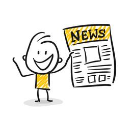 Strichfiguren / Strichmännchen: News, Extrablatt. (Nr. 119)