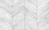 Natural gray wooden parquet herringbone. Wood texture. - 175818432