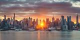 Cloudy sunrise over Manhattan, New York - 175820028