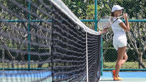 Fotobehang Tennis Female tennis player